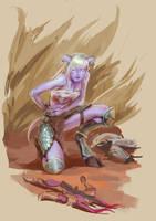 Draenei Hunter by lynadeathshaow
