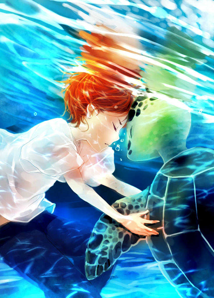 Underwater Encounter by Shumijin