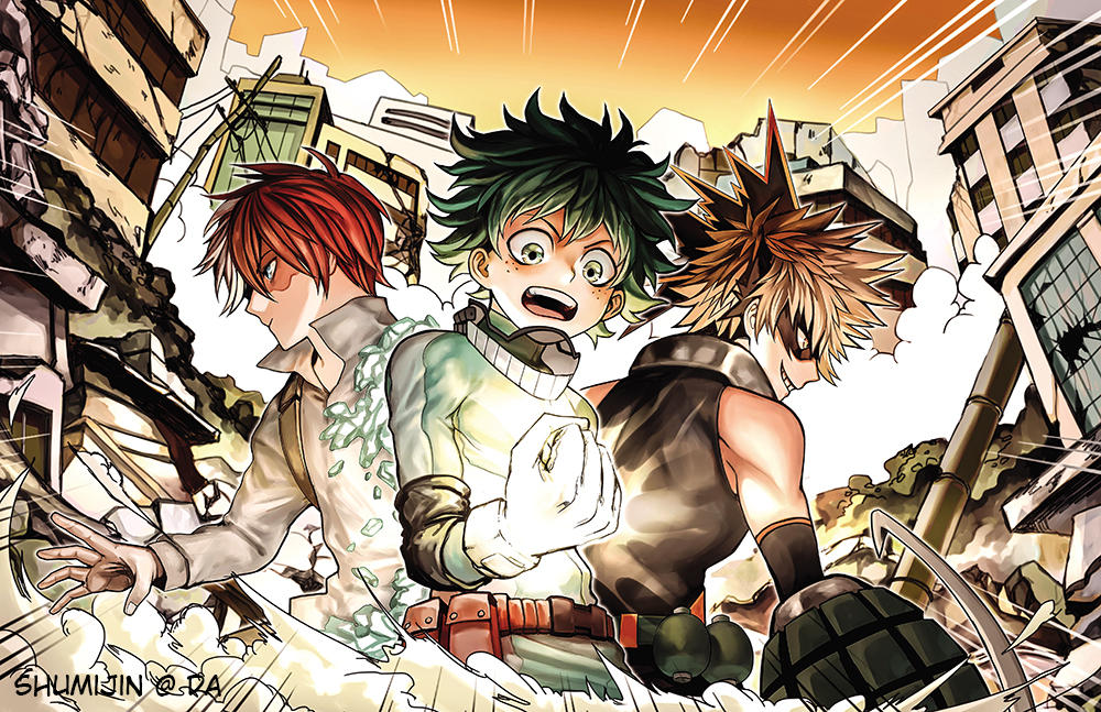 Boku No Hero Academia Shouto Izuku Bakugou By Shumijin On Deviantart