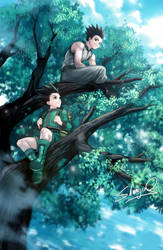 Hunter X Hunter - Gon and Ging by Shumijin