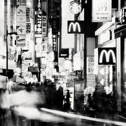 Seoul Korea Myeongdong Neons by xMEGALOPOLISx