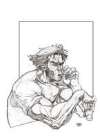 Wolvie Sketch by SpikeSDM