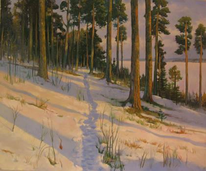 Winter evening walk by kahuella