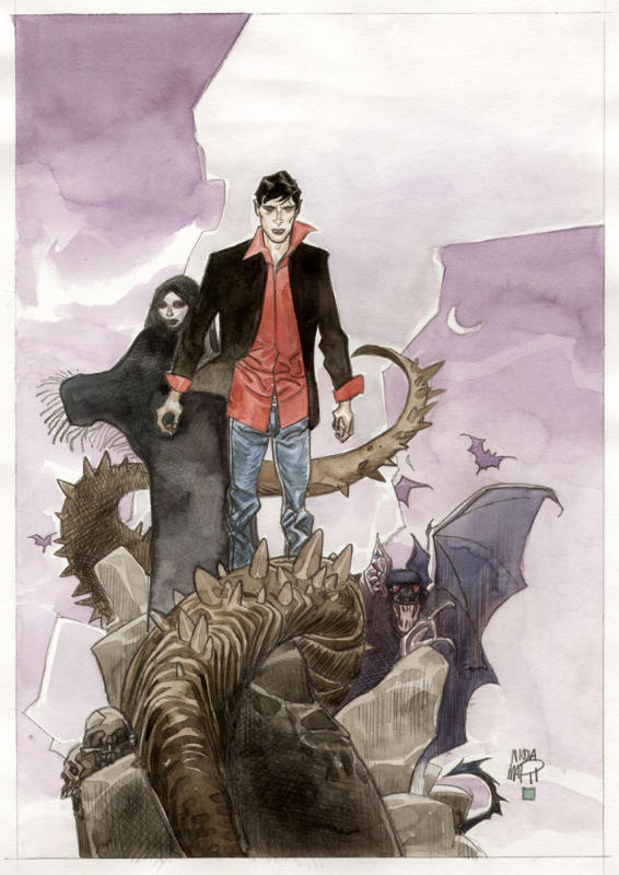 Dylan Dog pinup4 by NicolaMari-fan