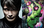 Mads Mikkelsen as Brainiac by TristanHartup
