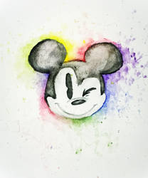 Mickey Mouse painting by xXRay-PhoenixXx