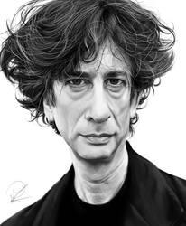 Neil Gaiman by PaulDarkdraft