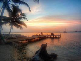 Tobacco Caye, Belize Sunset by atreyu917