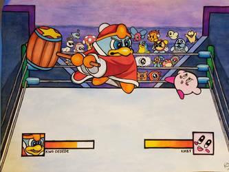 Kirby vs King Dedede by atreyu917