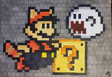 8 bit Super Mario Bros by atreyu917