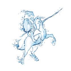 Water Knight by Santi90