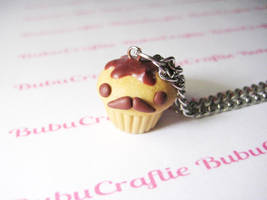 Mr Mustache Cupcake Necklace by efeeha