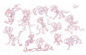 Cleo Serafina Sketches by MartonSzucsStudio