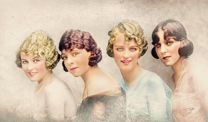 Coloreado vintage chicas by cespra2002