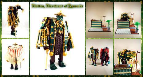 Bionicle MOC: Matteo, Merchant of Lemuria by Mana-Ramp-Matoran