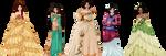 Disney Princesses, part 2 by LadyAraissa