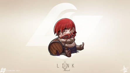 CLG chibi Link as Gragas by MaTTcomGO