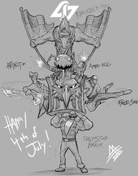 CLG Victory Sketch: MURICA edition by MaTTcomGO
