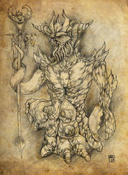 Asmodeus, King of Demons by hawanja