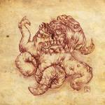 Tentacle Beast by hawanja