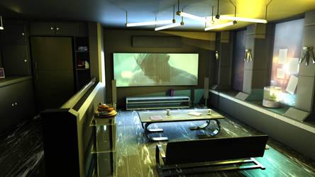 cyberpunk style interior by 100redeye