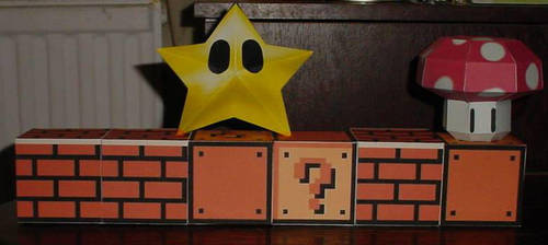 Mario Blocks and Powers by paperart
