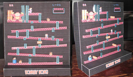 Donkey Kong Diorama by paperart