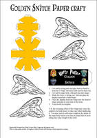 Golden Snitch Template by paperart