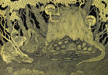 Hidden Dragon by yanadhyana