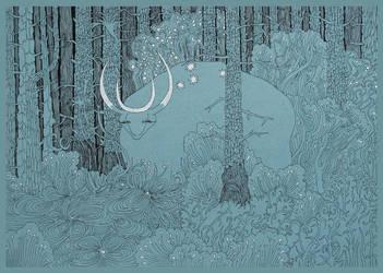 Lunar Magic Beast by yanadhyana