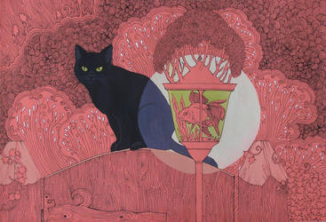 Cat in the Garden by yanadhyana