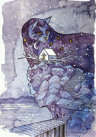 Catvember: November Night by yanadhyana