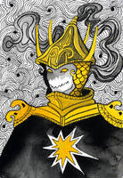 Inktober: King by yanadhyana