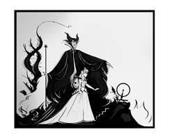 Maleficent vs Aurora doodle by didouchafik