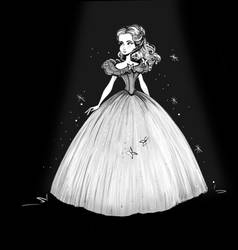 Inktober - Cinderella Doodle by didouchafik