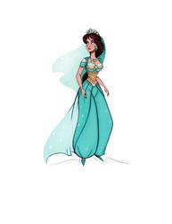 Daily doodle - Princess Jasmine - (Aladdin Remake) by didouchafik