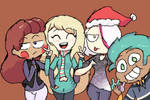 Holding hands and singing a Christmas carol by HesheStar