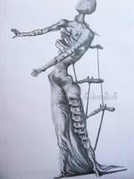 the burning giraffe figure by Lunicqa
