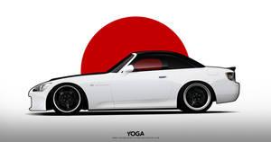 White Honda S2000 by YogaBudiwCUSTOM