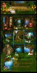 Dreamy Easter backgrounds by moonchild-ljilja