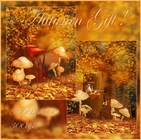 Autumn Gift backgrounds by moonchild-ljilja