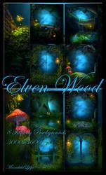 Elven Wood backgrounds by moonchild-ljilja