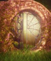 Fantasy Gate Background by moonchild-ljilja