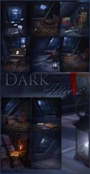 Dark Attic 2 backgrounds by moonchild-ljilja