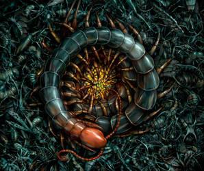 Salsa Invertebraxa - Centipette and Babies by m0zch0ps