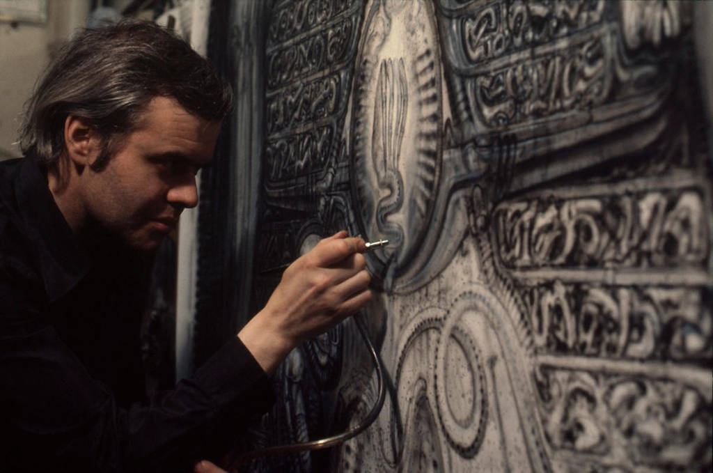 Hr Giger At Work by m0zch0ps