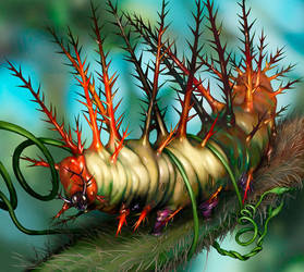 Tangled Caterpillar by m0zch0ps