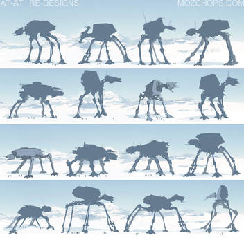 Star Wars AT-AT Re-designs by m0zch0ps