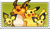 Pikachu Family Stamp by kalot3000