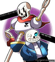 Random - Papyrus and Sans (Undertale) by Dragonith